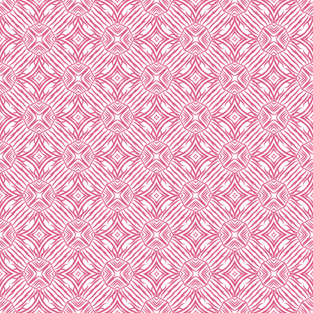 feminity: Pink and white geometrical fabric seamless pattern, vector Illustration
