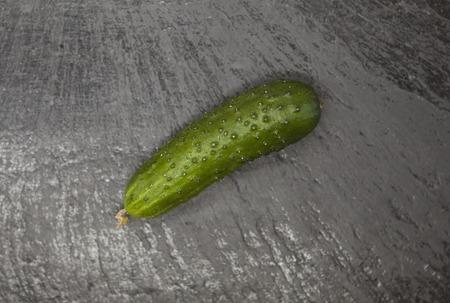 rosids: Fresh appetizing tasty cucumber on a stone background