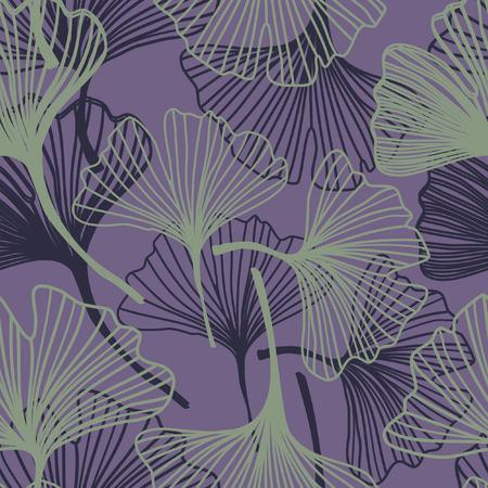 ginkgo: Ginkgo seamless pattern in soft colors