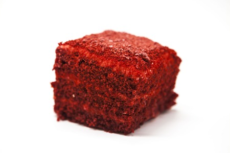 red velvet: Dukan Diet. Red Velvet, fresh delicious diet cake at Dukan Diet on a white background