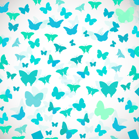 butterfly background: Abstract Butterfly Background. Vector illustration of blue butterflies. Soft colors vector background for wedding, greeting, invitation card, poster, banner and other design