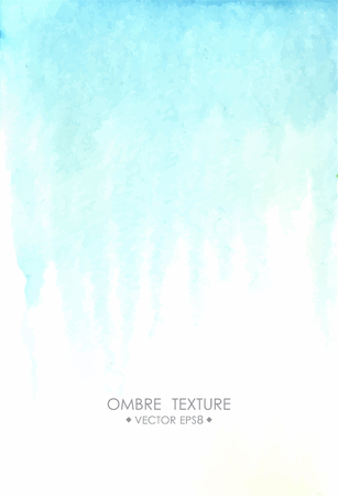 ombre: Hand drawn ombre texture. Watercolor painted light blue background with white space for text. illustration for wedding, birhday, greetings cards, web, print, scrapbooking.