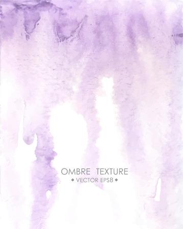 Dibujado a mano la textura ombre. Acuarela pintada de fondo de color violeta claro con espacio en blanco para el texto. Ilustración para la boda, cumpleaños, tarjetas de felicitación, Web, la impresión, el scrapbooking.