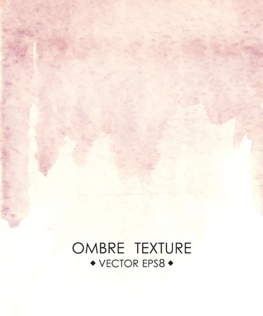 ombre: Hand drawn ombre texture. Watercolor painted light blue background with white space for text. Vector illustration for wedding, birhday, greetings cards, web, print, scrapbooking Illustration
