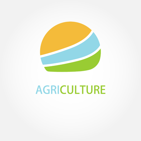 Circle agricultural logo vector illustration Illustration