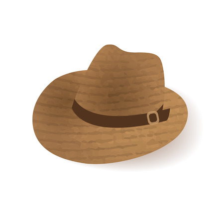 old west: Old west sheriff Cowboy hat icon. Illustration