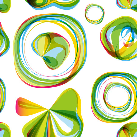 ladylike: Seamless round bubbles abstract pattern. Vector seamless background for textile, paper, wallpapet, cloth, web and other