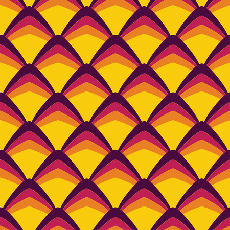 twill: Abstract retro curves seamless pattern.