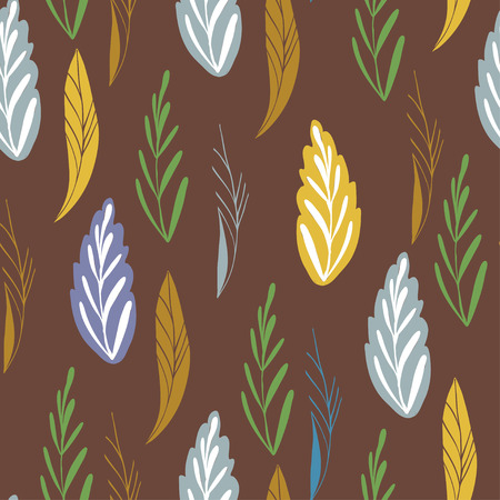 colord: Vector pattern in autumn colord. Seamless pattern with abstract autumn leaves can be used for pattern fills, wallpapers, web page backgrounds and print design. Illustration