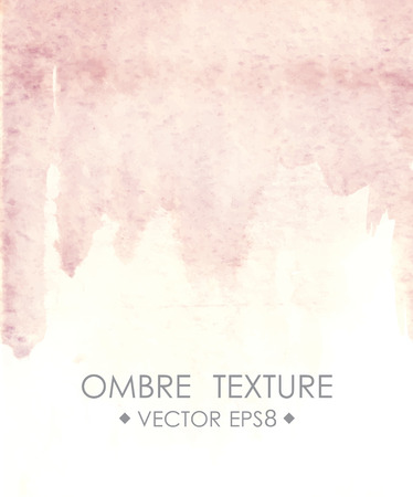 ombre: Hand drawn ombre texture. Watercolor painted light blue background with white space for text. Vector illustration for wedding, birhday, greetings cards, web, print, scrapbooking.
