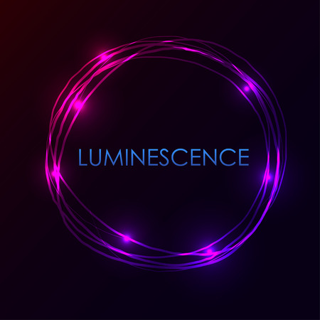 phosphorescence: Abstract light circles background. Vector illustration. Blue and violet light frame with place for your text Illustration