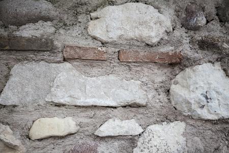 Un Viejo Muro De Piedra Marrón, Negro, Grandes Piedras Blancas ...