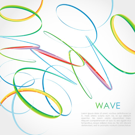 Colorful Bright Rainbow Spiral Background. Vector logo, web, banner, poster, print design element Ilustrace
