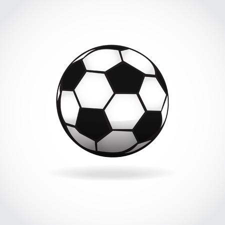 foot ball: Football ball icon. Soccer ball symbol. Foot ball isolated on white. Vector sport illustration.
