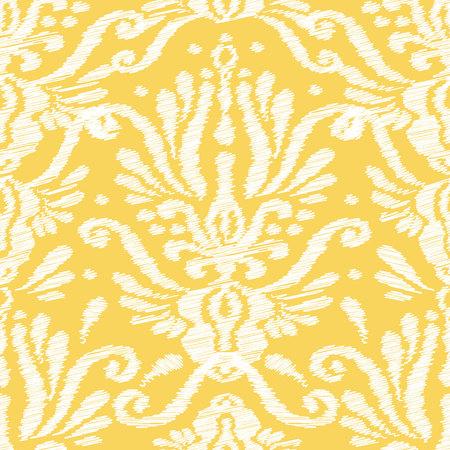 Ikat 다마 원활한 패턴입니다. 웹, 인쇄 및 섬유에 대한 벡터 민족 배경