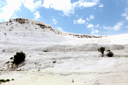 hierapolis: Pammukale, Turkish resort, the unique thermal water rich in calcium. Stock Photo