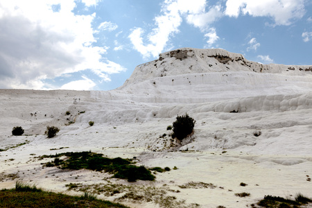 Pammukale, Turkish resort, the unique thermal water rich in calcium. Stock Photo