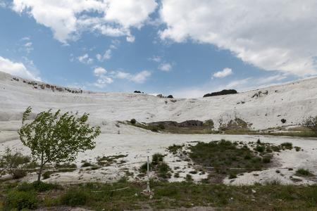 Pammukale, 터키 리조트, 칼슘이 풍부한 독특한 열수.