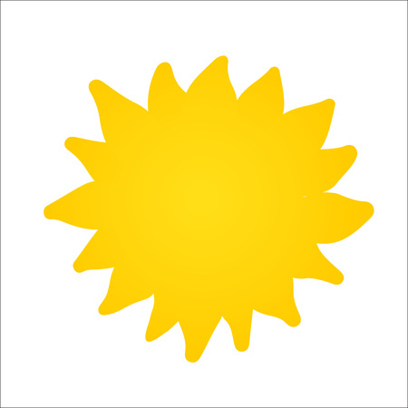 Hand drawn cute shinny sun. Vector graphic illustration. Can be used for web, print, logo design Illustration
