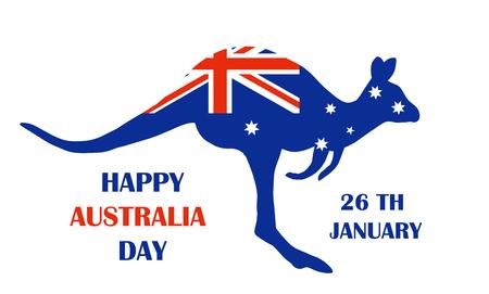 Australian flag in the shape of Kangaroo.