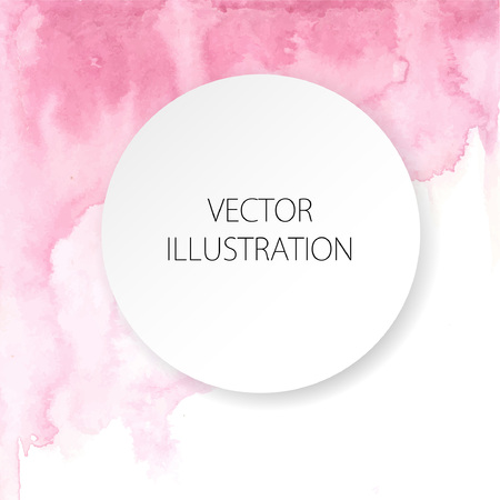 Hand drawn ombre texture. Watercolor painted light pink background with white space for text. Vector illustration for wedding, birhday, greetings cards, web, print, scrapbooking. Illustration