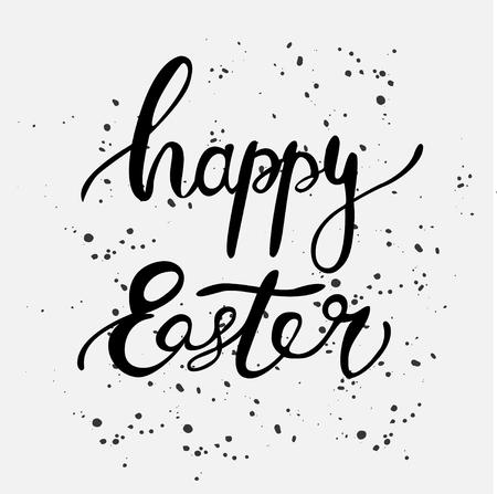 Happy Easter ink lettering card design