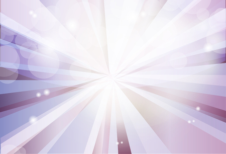Vector violet, sparkle background with rays, lights and stars. Abstract horisontal backdrop in pastel colors