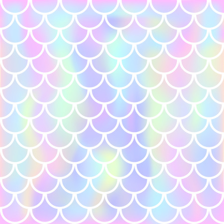 Vector background with fish scale and shining sparcles on soft pastel magic color palette gradient Stock Photo
