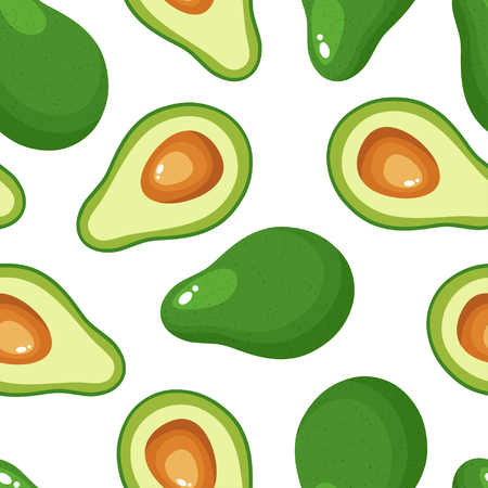 Avocado seamless pattern for textiles, prints, clothing, scrapbooking, banner and more. Healthy food print. 写真素材 - 127309564
