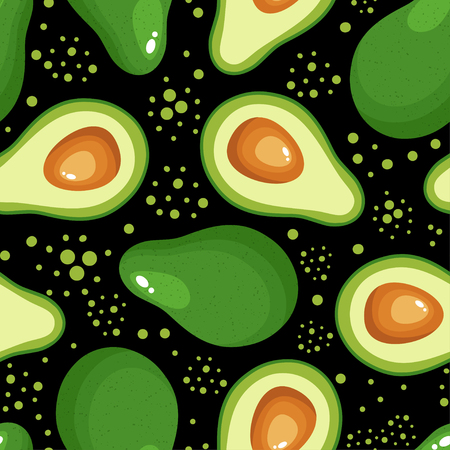 Avocado seamless pattern for textiles, prints, clothing, scrapbooking, banner and more. Healthy food print. Can be used for textile, kitchen, scrapbooking.