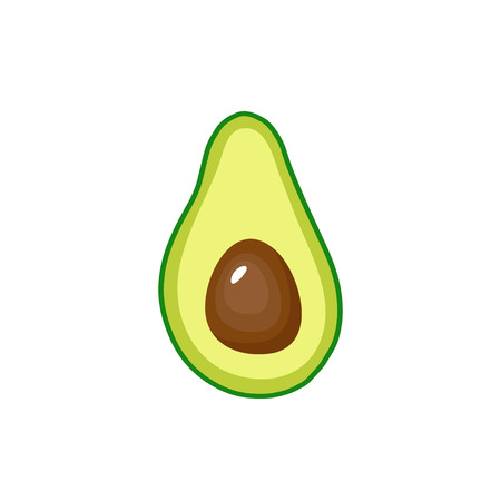 Avocado fruit icon inside. Vector illustration, Green food symbol isolated on white background 写真素材 - 127309567
