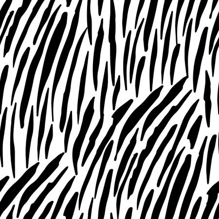 Illustration vectorielle du motif zébré sans soudure. Conception d'impression en noir et blanc pour vêtements, textiles, papiers peints