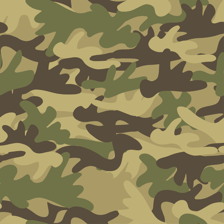 Seamless pattern camouflage background. Vector print in dark forest green colors