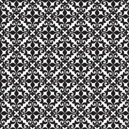 Orient vector classic pattern. Seamless abstract background with vintage elements. Damask black and white. Illustration