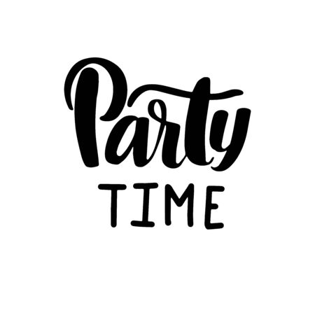Lets party. Inspirational vector Hand drawn typography poster. T shirt calligraphic design. Ilustração