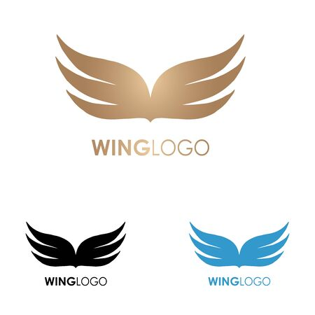 Wings logo template.