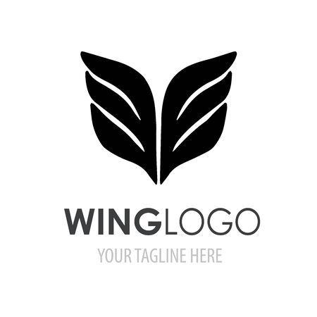 Wings logo template. Abstracr vector logotype symbol for your business company.
