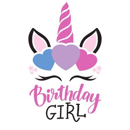 Happy birthday card with unicorn. Baby Shower Invitation Card