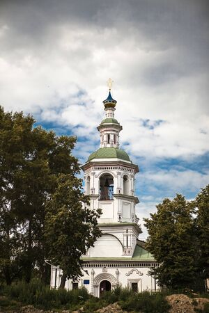 Russian Orthodox Church, a temple on a background of blue sky and clouds