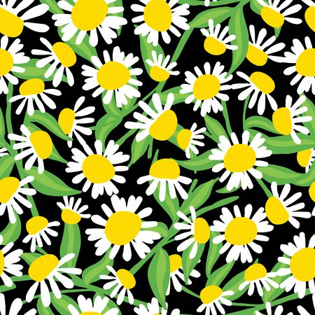 Floral seamless pattern with beautiful flowers, hand-drawing. Vector illustration. Vettoriali