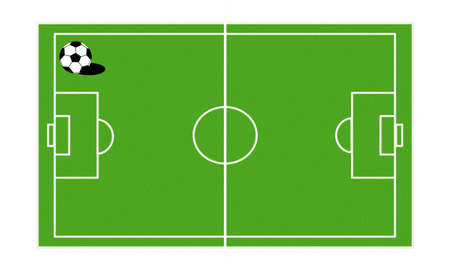 Lawn soccer court and ball