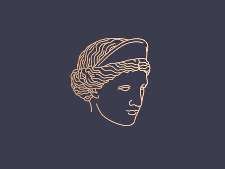 アフロディーテのロゴ  イラスト・ベクター素材