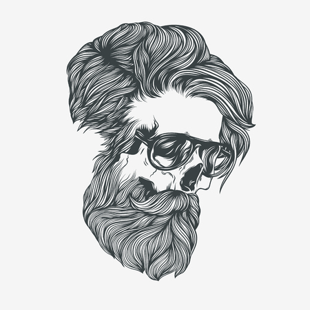 Bearded man. Vector illustration 向量圖像