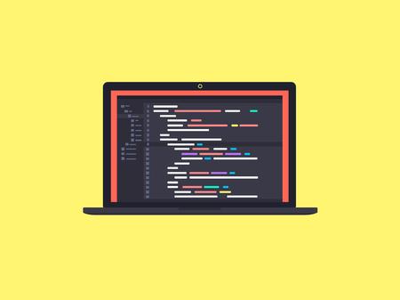 Codeer op het scherm laptop