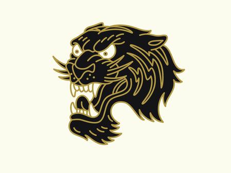 Tiger logo Stockfoto - 83613945