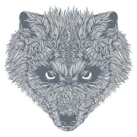 Abstract wolf head. Vector 向量圖像