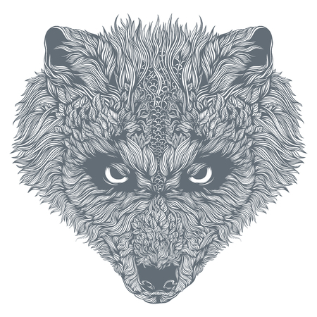Abstract wolfshoofd. Vector Stockfoto - 83613953