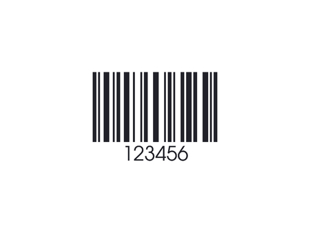 Realistic Barcode isolated on white. Barcode icon. Vector