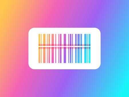 Rainbow barcode scanning. Barcode icon. Bar code vector illustration 向量圖像