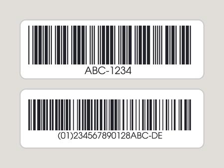Streepjescode instellen. Barcode label. Vector illustratie